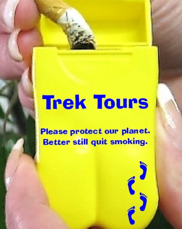 Trek Tours latest Personal Ashtrays