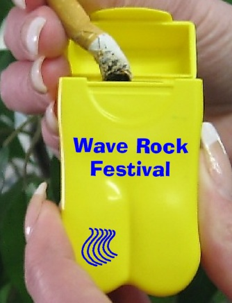 Wave Rock Festival's Pocket Ashtrays