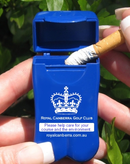 Over 2,000 Golf Clubs, Bowls Clubs & Sports Centres around the world are now using No BuTTs Pocket Ashtrays to eliminate cigarette butt litter at their locations