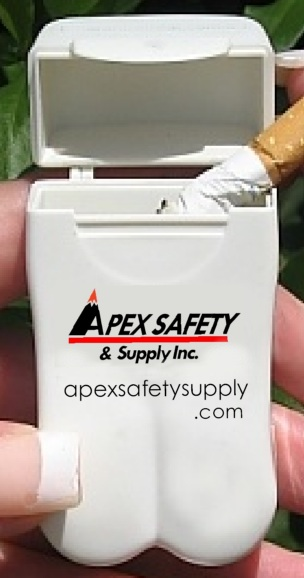 Apex Safety Supplies Personal Ashtray - great advertising every time it's used!