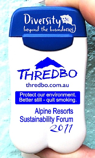 Thredbo Kosciuszko Resort's latest printed Personal Ashtrays encourage smokers to quit smoking!