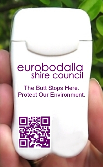Personal Ashtrays now being distributed Eurobodalla Shire Council