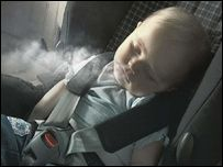 Smoking in vehicles with chidren is a form of child abuse.