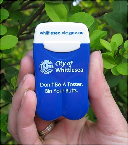 Whittlesea City Council's Personal Ashtray from No BuTTs