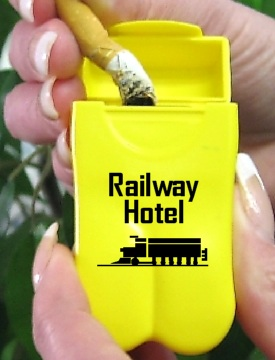 The Railway Hotel's new No BuTTs Personal Ashtrays