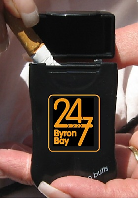 Over 500 convenience stores are now selling No BuTTs Mini-Butts Personal Ashtrays.