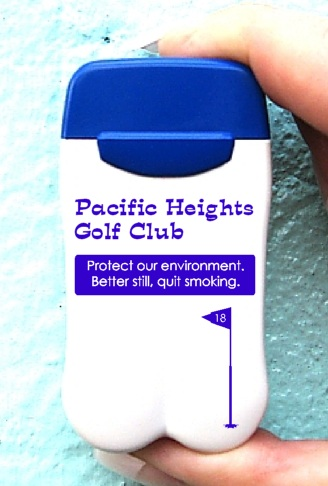 Pacific Heights Golf Course's Personal Ashtrays from No BuTTs