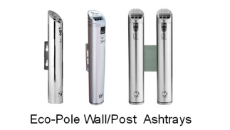 Eco-Pole Wall/Post Mounted Ashtrays - The world's best selling Cigarette Butt Litter Receptacles